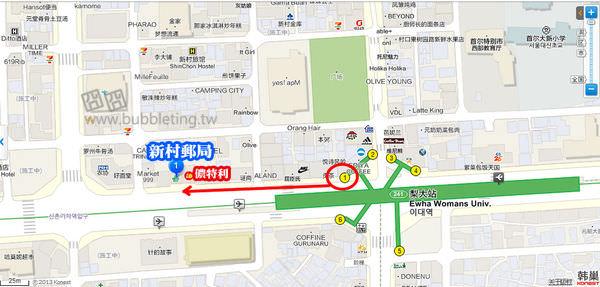新村郵局地圖