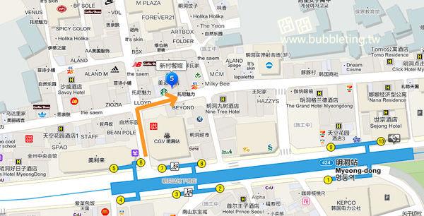 新村食堂地圖