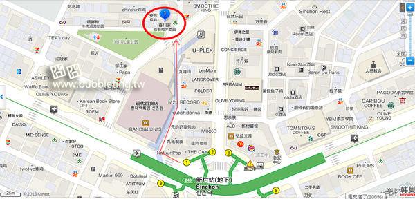 春川辣炒雞地圖