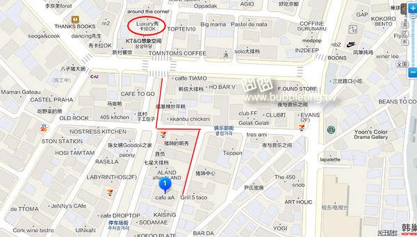 Cafe aA地圖
