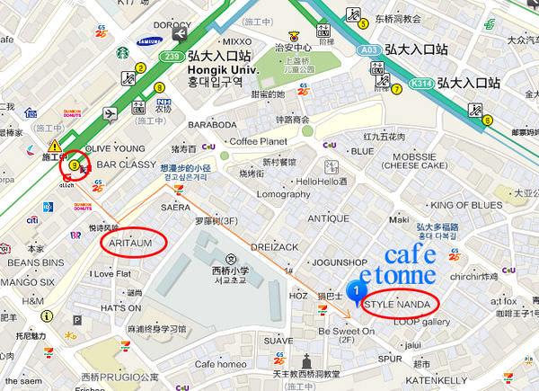 cafe etonne地圖